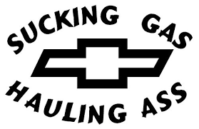 Sucking Gas Chevy Decal Sticker Peel A Buy Online In Aruba At Desertcart