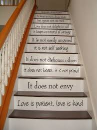 Love Is Patient Love Is Kind 1 Corinthians 13 Stair Case Stair Riser Vinyl Decal Stairway Art In This House We House Stairs