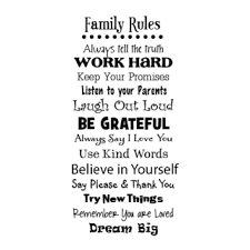 whimsical family rules wall quotes decal com