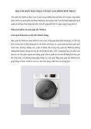 Địa chỉ bán máy giặt có sấy gia đình tốt nhất by hthang4597 - issuu
