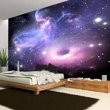 Custom Galaxy Cloud Fluorescence Mural Universe Theme Bedrooms Childre Interior Design Genie