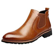 mens womens leather chelsea ankle boots