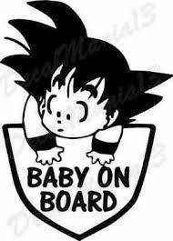 Goku Baby On Board Dragon Ball Z Kid Goku Car Truck Window Vinyl Sticker Decal Ebay