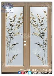 swing door made from frosted glass and