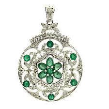 1 44ct emerald diamond 18k white gold