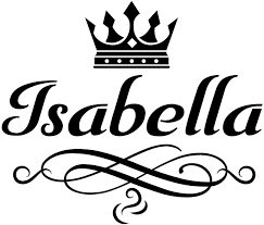 Amazon Com Girl Room Decor Wall Decal Is A Vinyl Wall Decal Displaying An Isabella Sticker Great Wall Art Name Sign Accessories Or Decorations For A Girl Bedroom Similar To Poster Black
