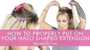 halo shaped extensions hidden crown