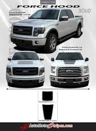2009 2014 Ford F 150 Force Hood Factory Style Vinyl Decal Graphic Stripes Ford F150 Truck Accessories Ford Car Vinyl Graphics