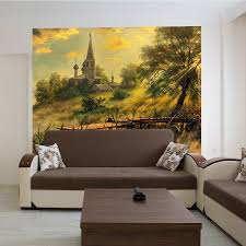 Shop Full Color Reproduction Landscape Church Relax Full Color Wall Decal Sticker Sticker Decal 33x33 Overstock 15259253