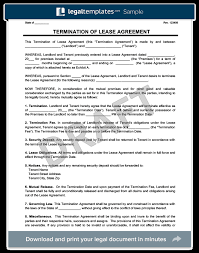 make a free lease termination letter in
