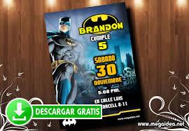 Invitacion De Batman Para Editar Gratis Mega Idea