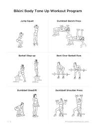 workout plans for women to tone t