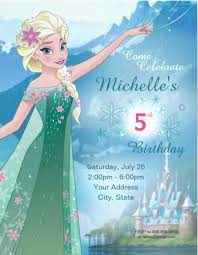Frozen Birthday Invitation Frozen Elsa Birthday Invitation