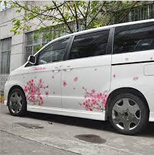 1 Pair Romantic Cherry Blossom Flower Japan Car Decal Sticker Sakura Flower Pink Wedding Auto Body Decal Cover Car Styling Car Styling Car Decal Stickercar Decal Aliexpress