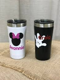 Personalized Disney Themed Yeti Style Cups Disney Cups Monogram Cups Disney Monogram