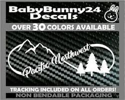 Pacific Northwest Pnw Mountains Trees Infinity Truck Van Car Vinyl Decal Sticker Ebay