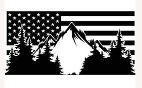 09 19 Subaru Outback Mountian American Flag Decals Stickers Vinyl Us Onlineamericanstore