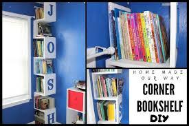 Corner Bookshelf Diy Space Saving Tower For Kids Rooms