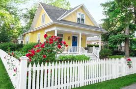 White Picket Fence House Cartoon Diy Craft