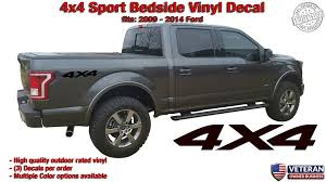 4x4 Sport Bedside 1 Color Vinyl Decals Stickers Fits Ford F150 Sport Roe Graphics And Apparel