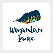 Wingardium Leviosa Posters And Art Prints Teepublic