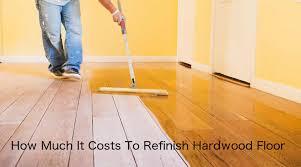 cost to refinish hardwood floors 2018