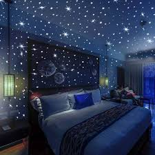 Amazon Com Glow In The Dark Stars And Dots 332 3d Wall Stickers For Kids Bedroom And Room Ceiling Gift Beautiful Glowing Wall Decals Bonus Constellations Guide Kitchen Dining