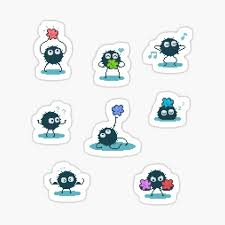 Soot Sprite Stickers Redbubble