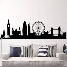London Skyline Decal Cityscape Wall Decal London Etsy