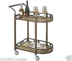 tea serving bar cart on wheels glass