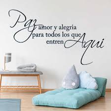 Mair Gwall Spanish Quotes Wall Decal Love Saying Quotes Letters Phrase Words Wall Stickers Vinyl Home Wall Decoration Ru101 Wall Stickers Aliexpress
