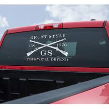 Grunt Style Logo Car Window Decal Free Shipping Over 49