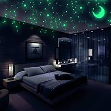 Amazon Com Glow In The Dark Wall Stickers Buery 407 Pcs Removable Glow In Dark Dots Wall Decals Stickers Room Decor Kit Adhesive Dots Luminous Ceiling Decals For Kids Bedroom Halloween Home Decoration