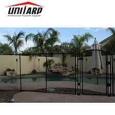 China Unitarp Above Ground Mesh Pool Security Fences Removable Temporary Swimming Pool Fence Photos Pictures Made In China Com