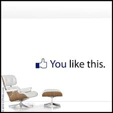 Facebook Wall Decal You Like This Post Sentence From Facebook Social Network Media Decoration Vinyl Creative Office Space Wall Decals Office Decor