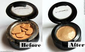 how to fix a broken eyeshadow or blush