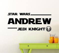 Personalized Star Wars Wall Decal Custom Name Jedi Knight Etsy
