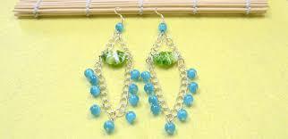 chandelier earrings with cat eye