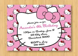 Hello Kitty Printable Birthday Party Invitation By Littleforests