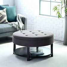large round leather ottoman square