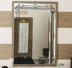 square frame mirror sticker tenstickers