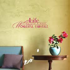 Life Itself Is A Fairytale Vinyl Wall Sticker Decals Wall Letters Quotes