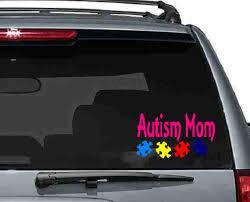 Autism Mom Vinyl Car Decal Autism Decals Asd Decals Autism Etsy