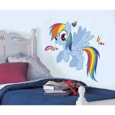 Roommates 25 8 In X 30 4 In Rainbow Dash Peel And Stick Giant Wall Decal Rmk2532gm The Home Depot