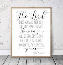Amazon Com Bible Verse Printable The Lord Bless You And Keep You Numbers 6 24 46 Christian Prints Calligraphy Print Christian Gifts Bible Verse Art Wood Pallet Design Wall Art Sign Plaque With Frame Wooden