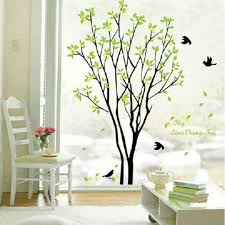 Removable Pvc Wall Stickers Green Tree Wall Decals Home Room Wall Art Decor For Sale Online