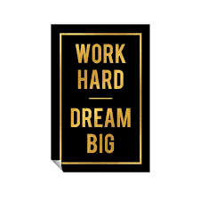 Successories Work Hard Dream Big Wall Decal Wayfair