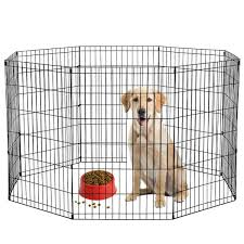 36 Black Tall Dog Playpen Crate Fence Pet Kennel Play Pen Exercise Cage 8 Panel Sold By Factory Direct Rakuten Com Shop