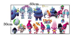 Creative Cartoon Movie Trolls Wall Stickers For Kids Rooms Vinyl Diy Wall Decals Baby Room Bathroom Anime Poster Dreamwork Mural Wall Sticker Decorations Wall Sticker Design From Fos5 7 92 Dhgate Com