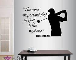 Golf Wall Decal Etsy
